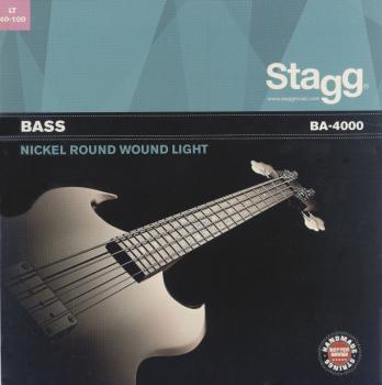 Nickel round wound set of strings for electric bass guitar (ST-BA-4000)