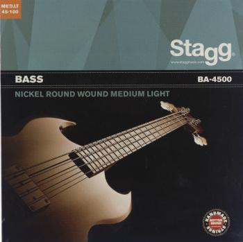 Nickel round wound set of strings for electric Bass guitar (ST-BA-4500)