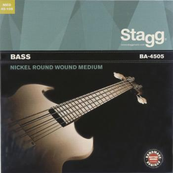 Nickel round wound set of strings for electric Bass guitar (ST-BA-4505)