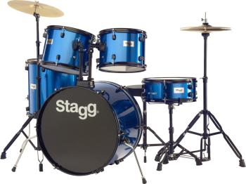 "5-piece, 6-ply basswood, 22"" standard drum set with hardware & cymbals (ST-TIM122B BL)"