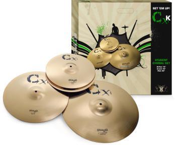 Standard brass cymbal set (ST-CXK SET)