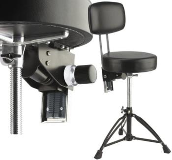 Professional double-braced adjustable drum throne with backrest (ST-DT-280R BK)