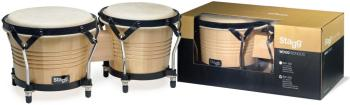 "7.5"" and 6.5"" natural-coloured Latin wood bongos (ST-BW-200-N)"
