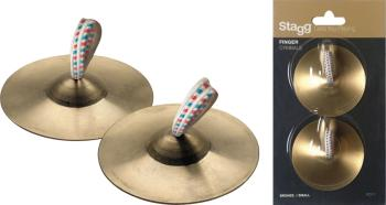 Pair of brass finger cymbals (ST-FCY-7)