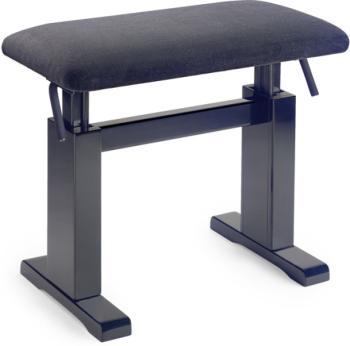 Black hydraulic piano bench with black velvet top (ST-PBH 780 BKM VBK)