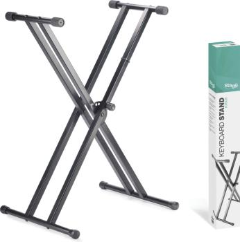 Double Braced X-style Keyboard Stand - To Be Assembled (ST-KXSQ5)