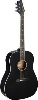 Slope Shoulder dreadnought guitar, black, left-handed model (ST-SA35 DS-BK LH)