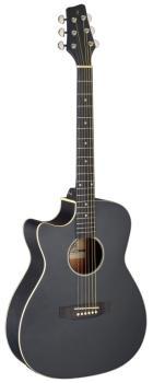 Cutaway acoustic-electric auditorium guitar, black, left-handed model (ST-SA35 ACE-BK LH)