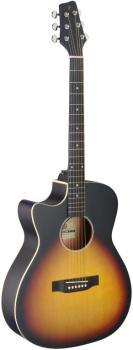 Cutaway acoustic-electric auditorium guitar, sunburst, lefthanded mode (ST-SA35 ACE-VS LH)