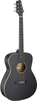 Auditorium guitar with basswood top, black, left-handed model (ST-SA35 A-BK LH)