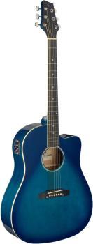 Cutaway acoustic-electric Slope Shoulder dreadnought guitar, transpare (ST-SA35 DSCE-TB)