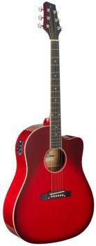 Cutaway acoustic-electric Slope Shoulder dreadnought guitar, transpare (ST-SA35 DSCE-TR)