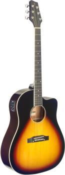 Cutaway acoustic-electric Slope Shoulder dreadnought guitar, sunburst (ST-SA35 DSCE-VS)