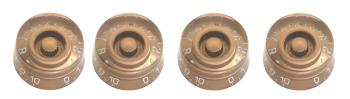 Volume (x 2) and tone (x 2) knobs for P type electric guitar, Gold Hat (ST-SP-KNLP-GDH)