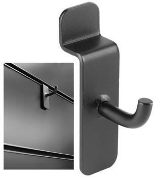 5 short slatwall hooks (ST-SLA-SH BK)