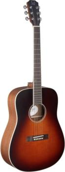 4/4 acoustic dreadnought guitar with solid cedar top, Ezra series (JA-EZR-D)
