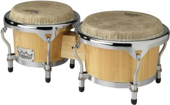 "7"" and 8.5"" natural-coloured wooden bongo, Crown Percussion (RE-CR-P780-00)"