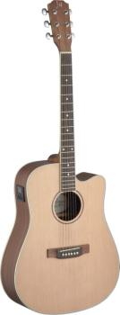 Asyla series 4/4 dreadnought acoustic-electric guitar with solid spruc (JA-ASY-DCE)