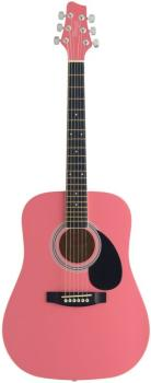 Acoustic Dreadnought Guitar with basswood top, 3/4 model (ST-SW201 3/4 PK)