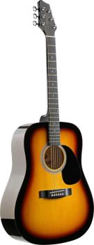 Acoustic Dreadnought Guitar with basswood top (ST-SW201SB)