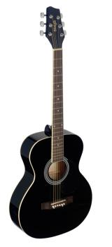 4/4 black auditorium acoustic guitar with linden top (ST-SA20A BLK)
