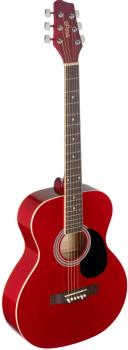 4/4 red auditorium acoustic guitar with linden top (ST-SA20A RED)