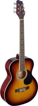 4/4 sunburst auditorium acoustic guitar with linden top (ST-SA20A SNB)
