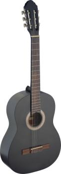 4/4 black classical guitar with linden top (ST-C440 M BLK)