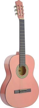4/4 pink classical guitar with basswood top (ST-C542 PK)