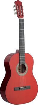 4/4 dark red classical guitar with basswood top (ST-C542 TR)