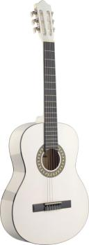 4/4 white classical guitar with basswood top (ST-C542 WH)