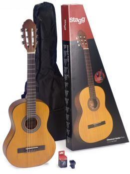 Guitar pack with 3/4 natural-coloured classical guitar with linden top (ST-C430 M NAT PACK)