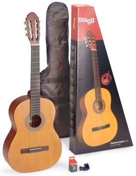 Guitar pack with 4/4 natural-coloured classical guitar with linden top (ST-C440 M NAT PACK)