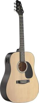 Acoustic-electric dreadnought guitar with basswood top and 2-band equa (ST-SW201N-VT)