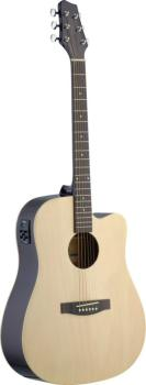 Electro-acoustic Dreadnought guitar with Linden top & (ST-SA30DCE-N)