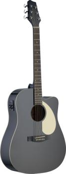 Electro-acoustic Dreadnought guitar with Linden top & CL-4 B-Band (ST-SA30DCE-BK)