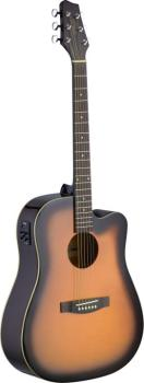 Electro-acoustic Dreadnought guitar with Linden top & CL-4 B-Band (ST-SA30DCE-BS)