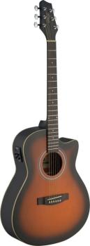 Electro-acoustic Auditorium guitar cutaway with Linden top & (ST-SA30ACE-BS)