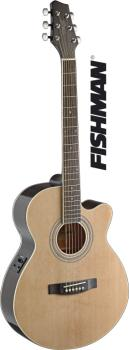 Mini-jumbo electro-acoustic cutaway concert guitar with FISHMAN preamp (ST-SA40MJCFI-N)