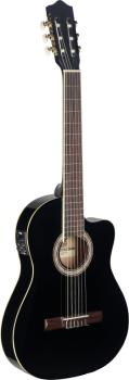 Electro-acoustic classical guitar with cutaway & 4-band (ST-C546TCE BK)