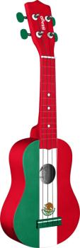 Graphic series, traditional soprano ukulele, in black nylon gigbag (ST-US MEX-FLAG)