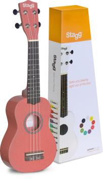 Soprano ukulele in black nylon gigbag (ST-US-LIPS)