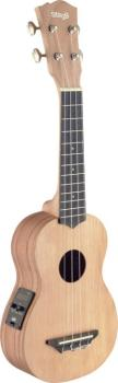 Traditional electro-acoustic soprano ukulele with solid cedar top (ST-USX-ROS-SE)