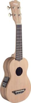 Traditional electro-acoustic soprano ukulele with solid cedar top (ST-USX-ZEB-SE)