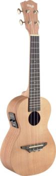 Traditional electro-acoustic concert ukulele with solid cedar top (ST-UCX-ROS-SE)
