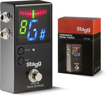 Auto-Chromatic Tuner Pedal for guitar, bass and other music instrument (ST-PTU-C8)