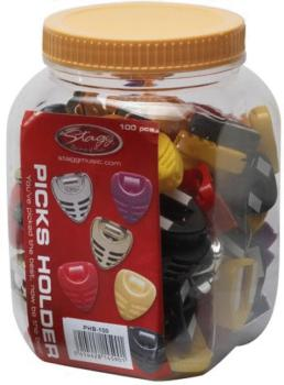 Box of 100 pick holders, various colours (ST-PHB-100)