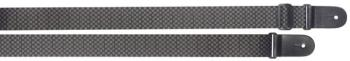 Braided nylon guitar strap with SQUARE pattern (ST-SN-SQRE BLK/GRY)