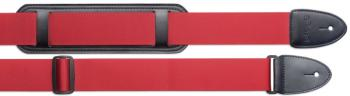 Braided nylon guitar strap with shoulder pad - Standard (ST-SN5 SHP RED)