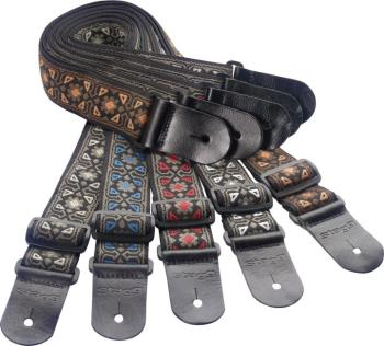 Guitar strap pack incl. 20 woven nylon guitar straps with flower patte (ST-SPACK FLO)